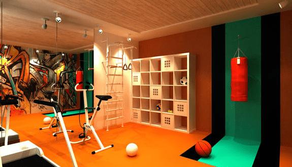 coole raumgestaltung f r fitnessraum zuhause freshouse. Black Bedroom Furniture Sets. Home Design Ideas