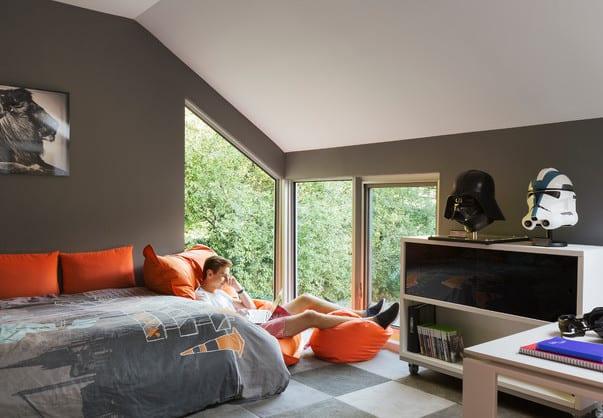 Coole Teenager Zimmer Ideen Und Kreative Farbgestaltung Kinderzimmer Mit  Wandfarbe Grau