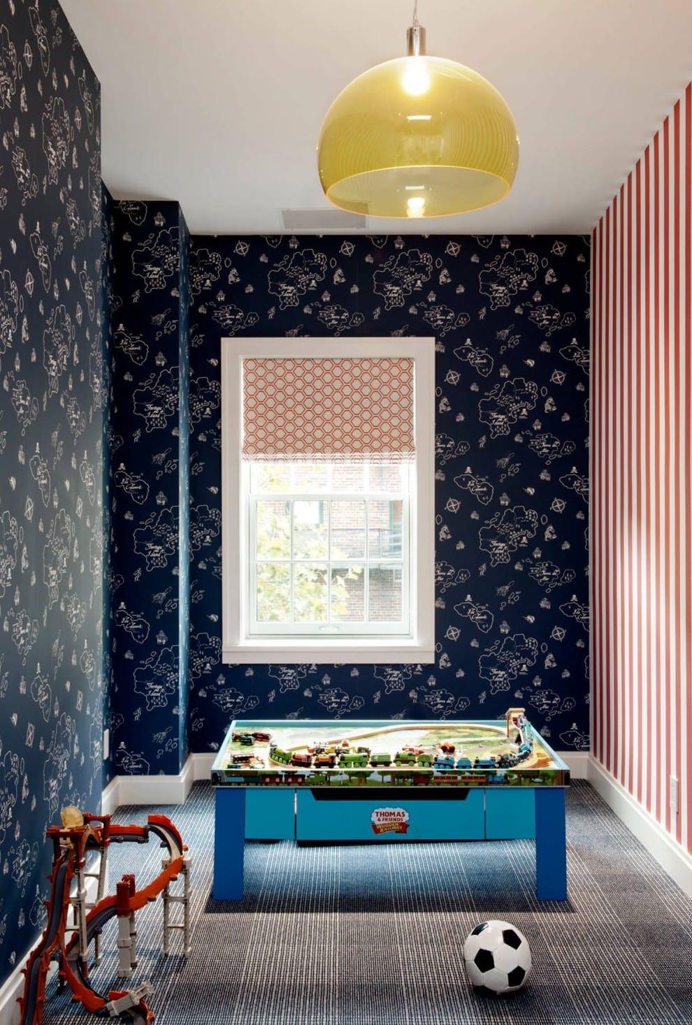 Coole Wohnidee Und Modernes Interieur Vom Townhouse Chelsea_kinderzimmer  Ideen Für Wandgestaltung Kinderzimmer Mit Blauen Tapeten
