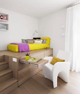 coole zimmer ideen f r jugendliche mit schrank als podest f r bett und schreibtisch schublade. Black Bedroom Furniture Sets. Home Design Ideas