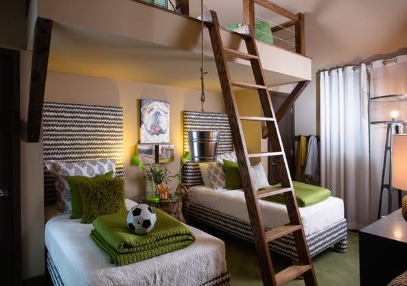 Coole Zimmer Ideen Für Jugendliche Und Jugendzimmer Einrichtungsideen Mit  Etagenbett Und Farbgestaltung In Grün