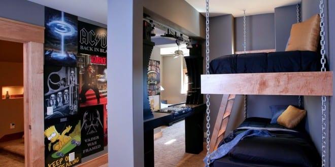 coole zimmer ideen f r jugendliche und kreative jugendzimmer einrichtungsideen mit hochbett und. Black Bedroom Furniture Sets. Home Design Ideas