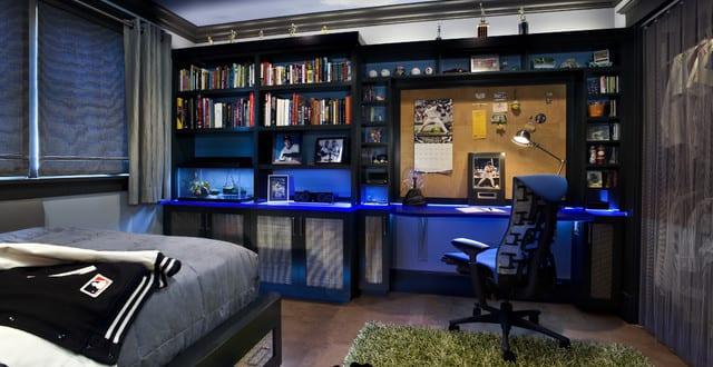 Coole Zimmer Ideen Für Jugendliche Und Kreative Jugendzimmer Junge Mit  Indirekter Beleuchtung In Blau Good Ideas