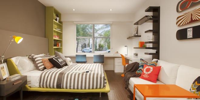 coole zimmer ideen f r jugendliche und moderne jugendzimmer einrichtung mit bunten m beln. Black Bedroom Furniture Sets. Home Design Ideas