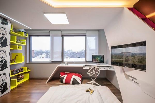 Coole Zimmer Ideen Für Minimalistische Kinderzimmer Und Moderne Jugendzimmer  Mit Kreativer Wandgestaltung Und Indirekter Deckenbeleuchtung