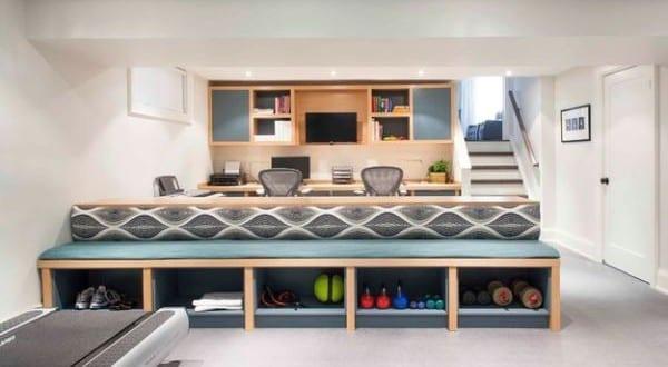 einrichtungsidee f r kleines fitnessstudio zu hause von. Black Bedroom Furniture Sets. Home Design Ideas