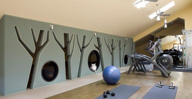 fitnessstudio und fitness zu hause einrichtungsidee von studio 80 interior design freshouse. Black Bedroom Furniture Sets. Home Design Ideas