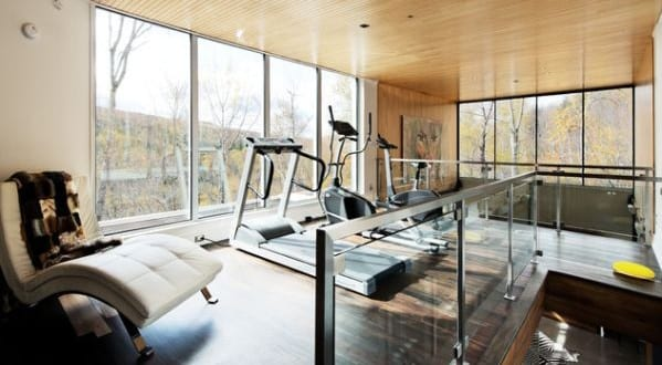 Fitnessraum gestalten  fitnessstudio zu hause einrichten und fitnessraum modern gestalten ...