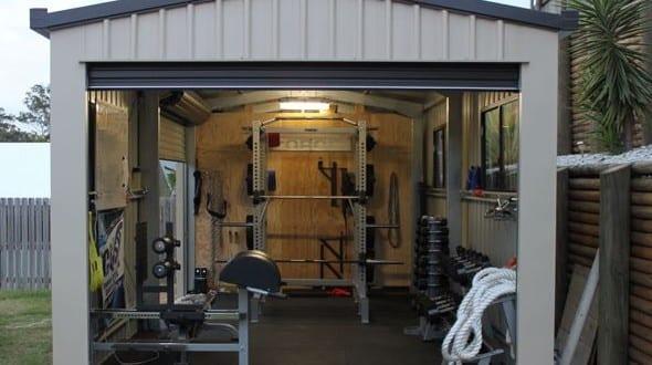 Fitnessstudion und fitnessraum einrichten in der garage for Garage einrichten ideen