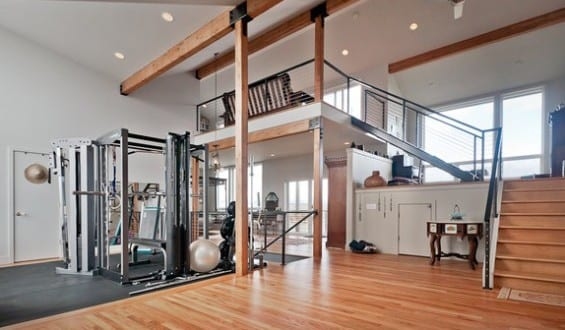Fitnessraum zu hause  fitnesstudio zu hause einrichten_eigener fitnessraum gestalten ...