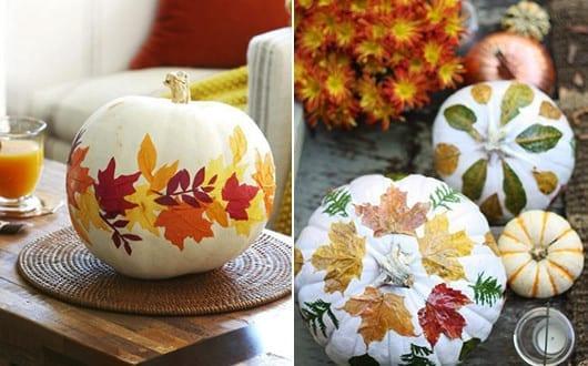 Herbstdeko Basteln Mit Kürbissen Und Bäume Blätter Freshouse
