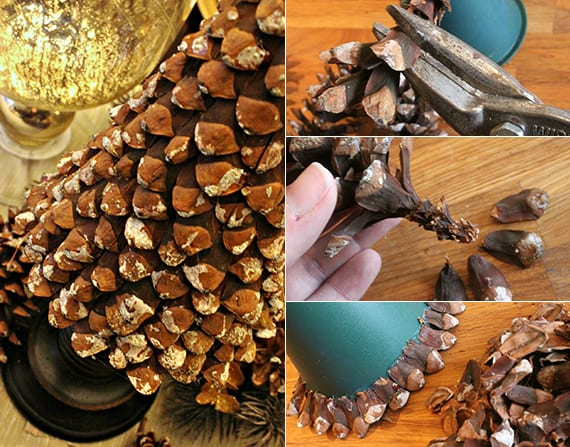 kreative bastelideen weihnachten f r coole diy deko weihnachten mit zapfen weihnachtsbaum. Black Bedroom Furniture Sets. Home Design Ideas