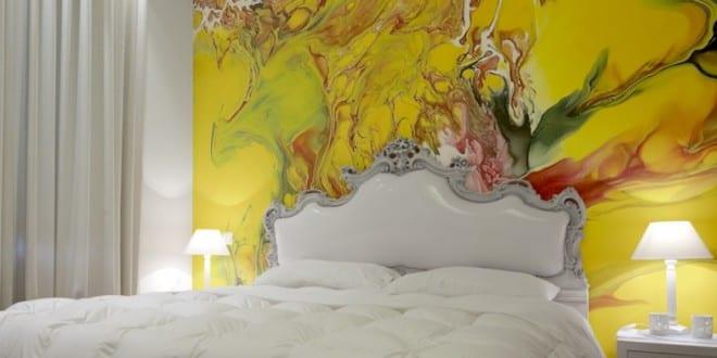 Wandgestaltung Schlafzimmer_ Coole Wandgestaltung Ideen Für Kreative  Wandgestaltung Farbe
