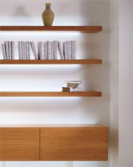 Wandregale Holz Mit Beleuchtung Für Moderne Wandgestaltung Und