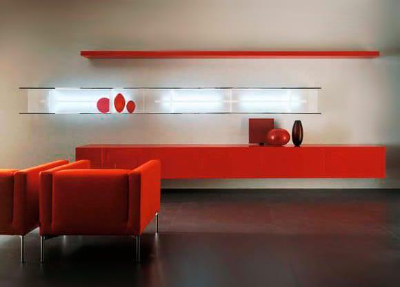 wandregale-rot-für-modernes-wohnzimmer-design-und-farbgestaltung-in ...
