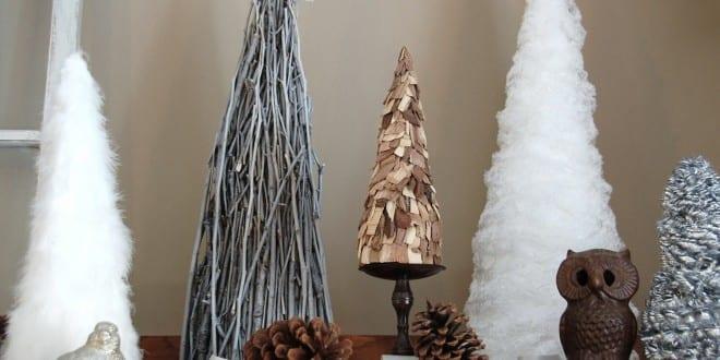 Weihnachtlich dekorieren mit diy weihnachtsb umen freshouse - Paletten deko weihnachten ...