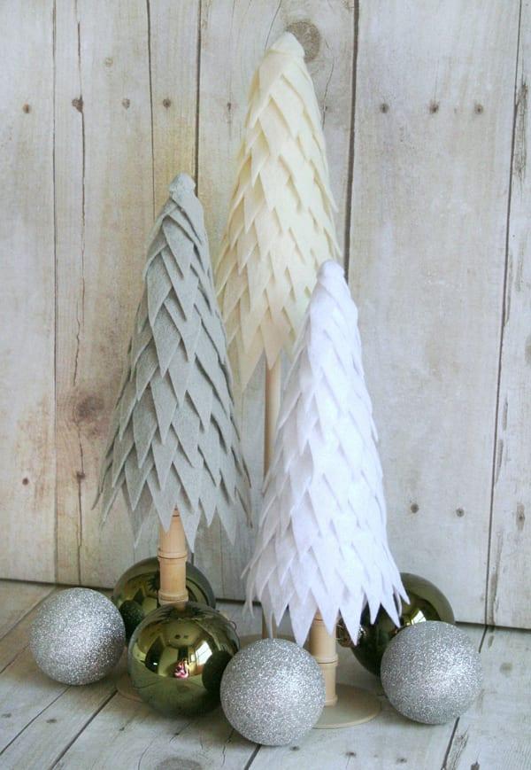 Weihnachtlich dekorieren mit diy weihnachtsbaum aus filz for Jugendzimmer weihnachtlich dekorieren