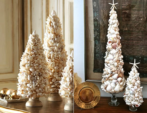 weihnachtlich dekorieren mit diy weihnachtsbaum aus muscheln freshouse. Black Bedroom Furniture Sets. Home Design Ideas