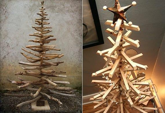weihnachtlich dekorieren mit diy weihnachtsbaum holz. Black Bedroom Furniture Sets. Home Design Ideas