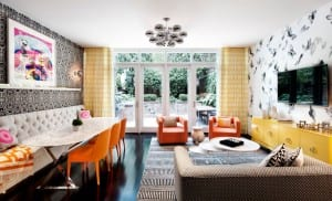 wohnidee für buntes und modernes Interieur_wohnzimmer design in ...