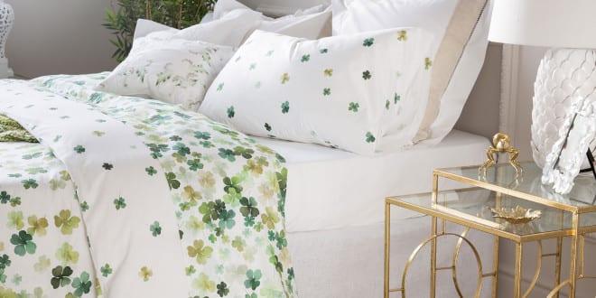 zara home einrichtungsideen f r schlafzimmer mit zara bettw sche wei und gr n freshouse. Black Bedroom Furniture Sets. Home Design Ideas