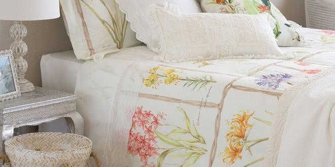 Zara Home Zum Schlafzimmer Einrichten Mit Zara Bettwäsche Mit Pflanzen Motiv