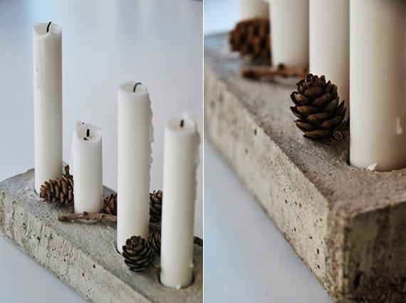 basteln mit beton zu weihnachten coole idee f r diy. Black Bedroom Furniture Sets. Home Design Ideas
