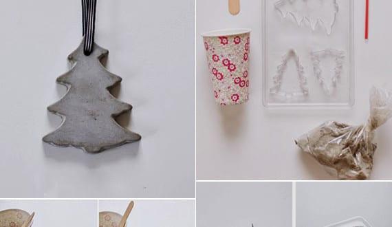 Basteln mit beton zu weihnachten weihnachtlich dekorieren for Jugendzimmer deko diy