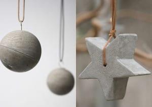 Basteln mit beton zu weihnachten weihnachtsschmuck und weihnachtsdeko selber machen aus beton - Weihnachtsschmuck selber machen ...