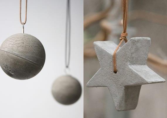 basteln mit beton zu weihnachten weihnachtsschmuck und. Black Bedroom Furniture Sets. Home Design Ideas