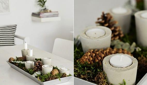 basteln mit beton coole weihnachtsdeko selber machen. Black Bedroom Furniture Sets. Home Design Ideas