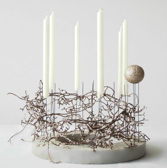 basteln mit beton dekoideen weihnachten mit diy. Black Bedroom Furniture Sets. Home Design Ideas