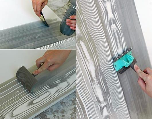 beton streichen coole wand ideen mit holzmuster estrich betonfarbe