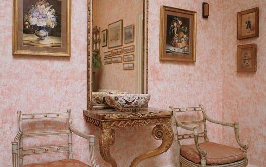 Kuche rosa wand for Wand streichen ideen kuche