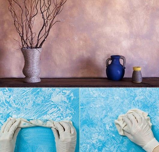Coole Wand Streichen Ideen Und Techniken Mit Lappen Fur Moderne