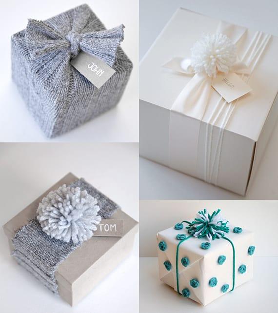 Geschenke kreativ verpacken mit garn freshouse - Geschenke einpacken ideen ...