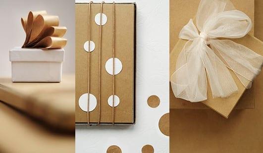 Geschenke schnell, kreativ und originell verpacken