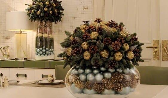 Tischdekoration Weihnachten tischdekoration mit zapfen als dekoidee für schöne und frohe