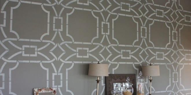 wand streichen ideen und techniken f r moderne wandgestaltung durch schablone freshouse. Black Bedroom Furniture Sets. Home Design Ideas