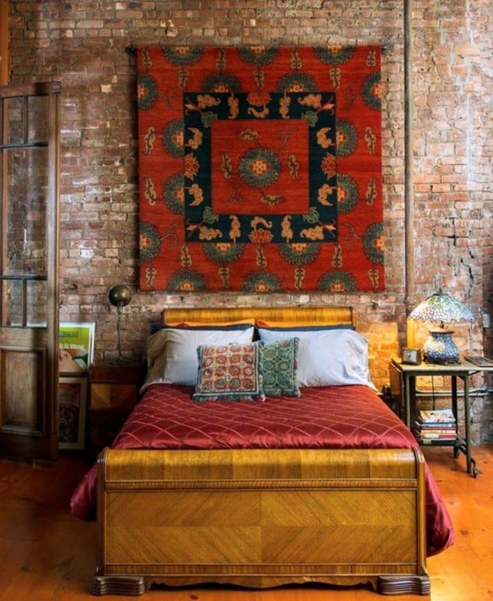 ... 50 Schlafzimmer Ideen Im Boho Stil Klassisches Holzbett ...