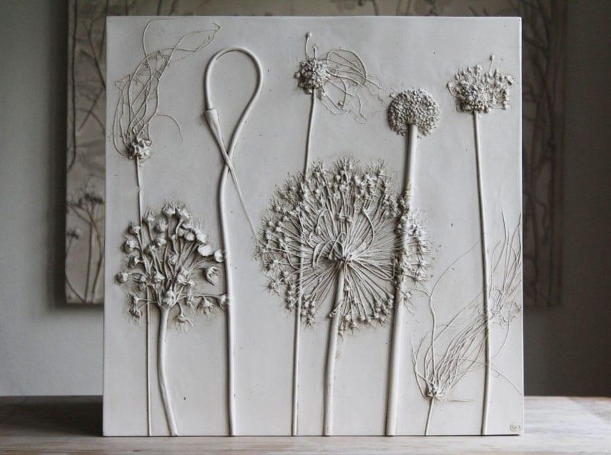 Basteln Ideen Mit Gips Als Geschenkidee Und Fur Diy Deko Mit Blumen