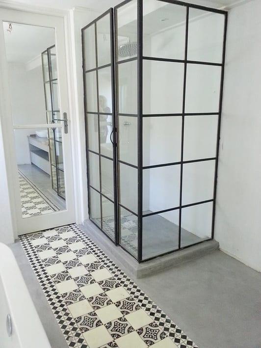estrich als bodenbelag im badezimmer kreativ gestalten und streichen freshouse. Black Bedroom Furniture Sets. Home Design Ideas