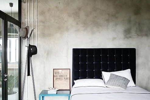 estrich der fu boden im industrial style f r moderne schlafzimmer im industriellen stil freshouse. Black Bedroom Furniture Sets. Home Design Ideas