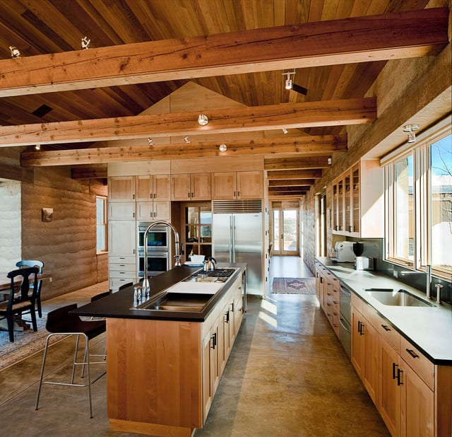 Kitchen Cabinets Vaulted Ceiling Open Shelves