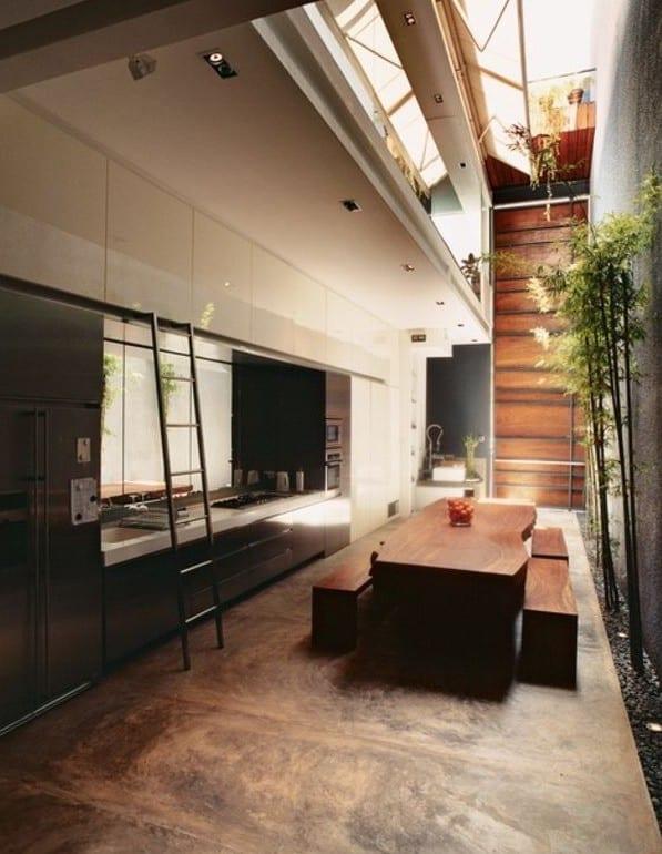 estrich-der fußboden im industrial style für moderne küchen mit ...
