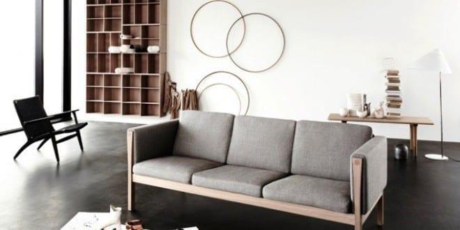 estrich der schwarze fu boden im industrial style f r modernes wohnzimmer design mit betondecke. Black Bedroom Furniture Sets. Home Design Ideas