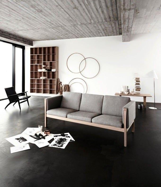 estrich-der schwarze fußboden im industrial style für modernes ...