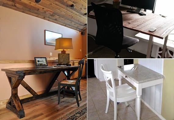 Holz Schreibtische Selber Bauen Mit Anleitung Freshouse
