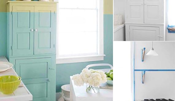 k che streichen und renovieren kreative streich ideen und streichen tipps f r farbige w nde und. Black Bedroom Furniture Sets. Home Design Ideas