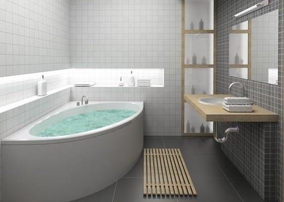 Kleine Und Moderne Badezimmer Mit Eckbadewanne - Freshouse